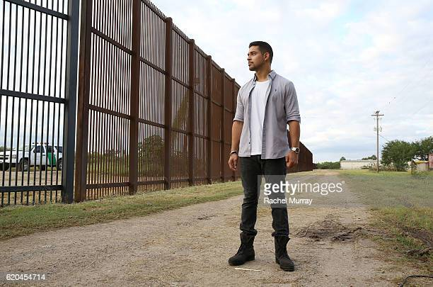 Wilmer Valderrama visits the USMexico border fence to take a stand for cultural progress in support of Johnnie Walker's Keep Walking America campaign...