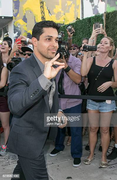 Wilmer Varderama attends David Grutman's and model Isabela Rangel wedding in Wynwood Wall on April 23 2016 in Miami Florida