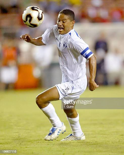 Wilmer Velasquez of Honduras in action during a match at the Orange Bowl Miami Florida July 7 2005 The game ended in a 11 tie