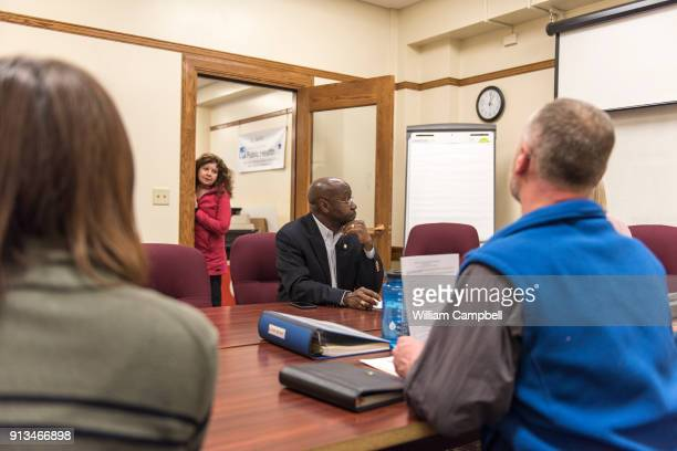 Wilmot Collins the newly elected Mayor of Helena Montana attends a public health meeting during his first month of office Wilmot Collins is a former...