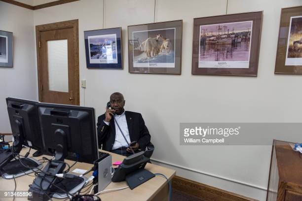 Wilmot Collins the newly elected Mayor of Helena Montana in his desk during his first month in office Wilmot Collins is a former Liberian refugee who...
