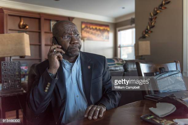Wilmot Collins the newly elected Mayor of Helena Montana take a phone call at home Wilmot Collins is a former Liberian refugee who recently defeated...