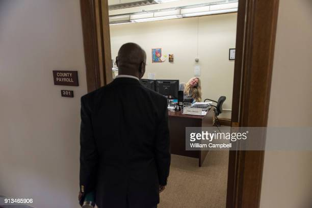 Wilmot Collins the newly elected Mayor of Helena Montana visits with a colleague during his first month in office Wilmot Collins is a former Liberian...
