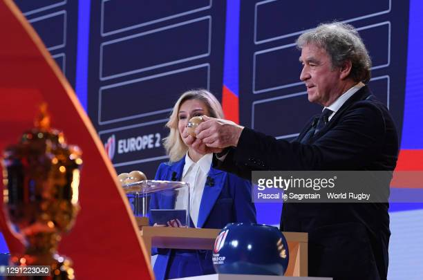Wilmotte Jean Michel takes part in the draw during the Rugby World Cup France 2023 draw at Palais Brongniart on December 14, 2020 in Paris, France