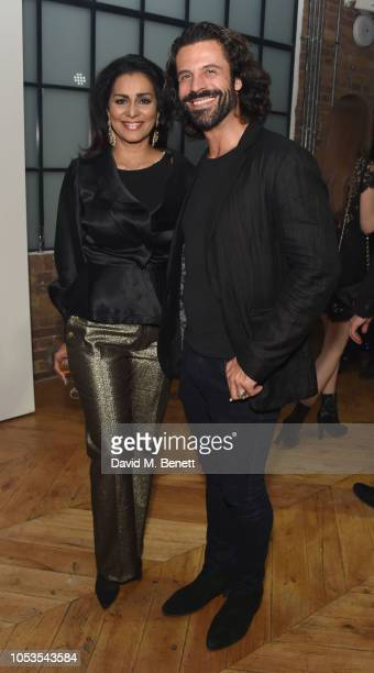 Wilnelia Forsyth and Christian Vit attend the Models 1 50th anniversary party at Spring Studios on October 25 2018 in London England