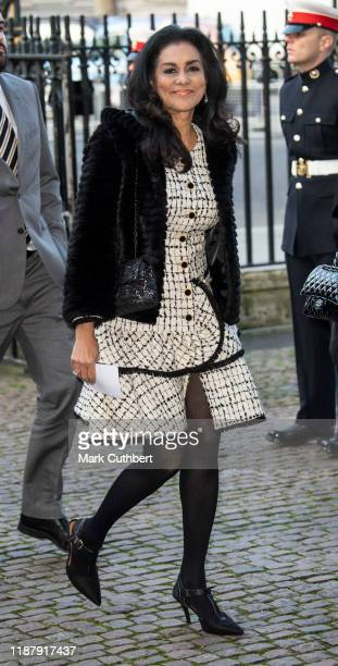 Wilnelia Forsyth attends a Service of Thanksgiving for the life and work of Sir Donald Gosling at Westminster Abbey on December 11 2019 in London...