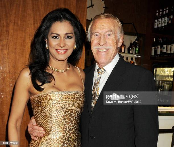 Wilnelia Merced and Sir Bruce Forsyth attend as Naomi Campbell hosts an Olympic Celebration Dinner in partnership with Fashion For Relief Interview...