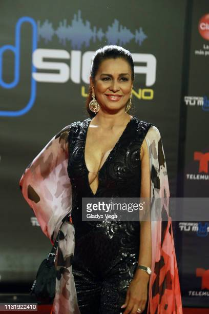 Wilnelia Merced arrives to Premio Tu Musica Urbano at Coliseo Jose M Agrelot on March 21 2019 in San Juan Puerto Rico