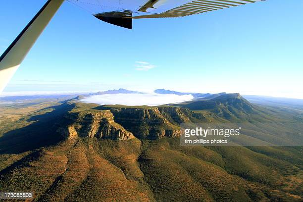 wilpena pound australia - south australia stock photos and pictures