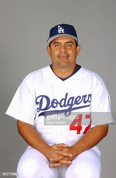 Wilson Alvarez of the Los Angeles Dodgers poses for a portrait during photo day at Holman Stadium on February 27, 2005 in Vero Beach, Florida.