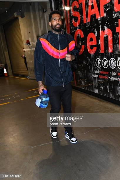 Wilson Chandler of the LA Clippers arrives to the game against the Chicago Bulls on March 15 2019 at STAPLES Center in Los Angeles California NOTE TO...