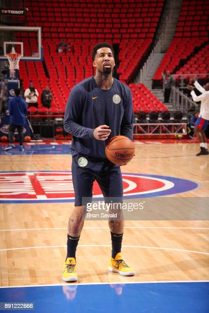 Wilson Chandler of the Denver Nuggets handles the ball before the game against the Detroit Pistons on December 12 2017 at Little Caesars Arena in...