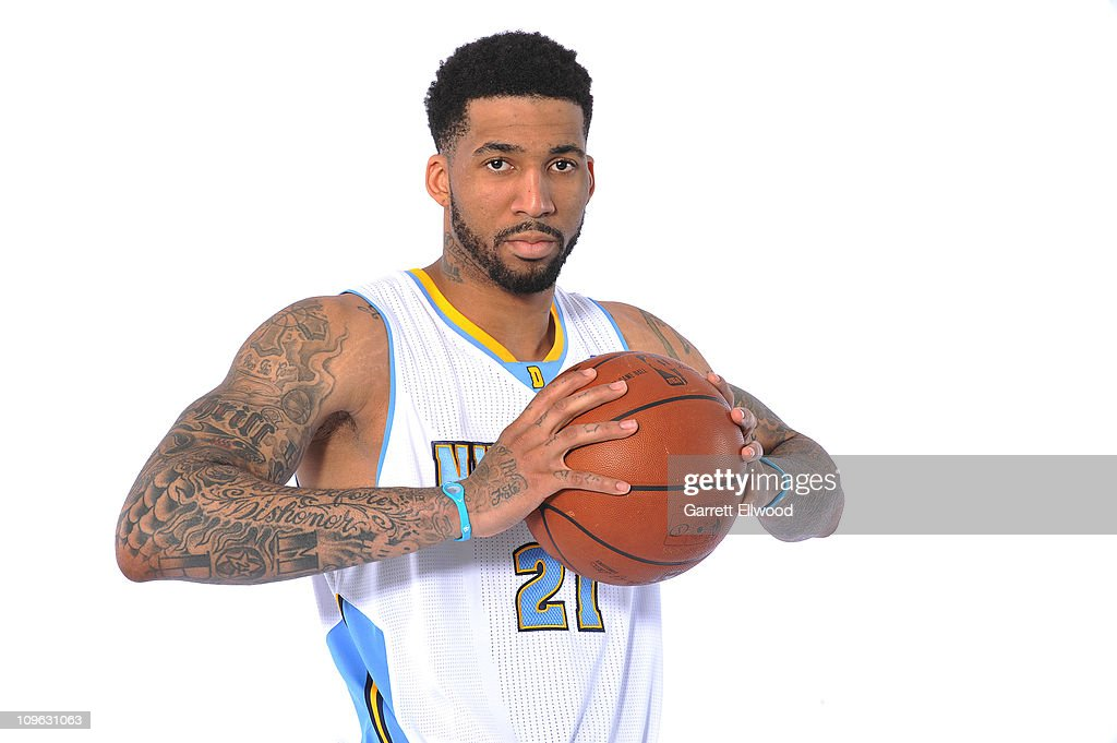 Wilson Chandler #21 of the Denver Nuggets poses for a photo on February 27, 2011 at the Pepsi Center in Denver, Colorado.
