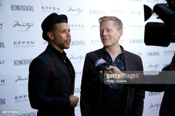Wilson Cruz and Anthony Rapp attend the Los Angeles Confidential Celebration for Portraits of Pride with GLAAD and Laverne Cox on June 4 2018 in...