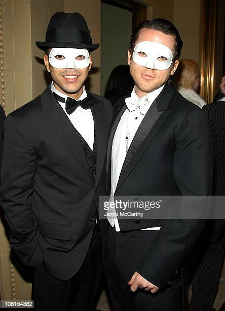 Wilson Cruz and Christian Campbell during Gen Art Gets Gatsby'd Up For Murder Mystery Masquerade at Gotham Hall in New York City New York United...