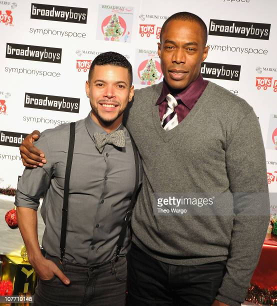 Wilson Cruz and Michael McElroy attend the 5th Annual Broadway Sings for Toys event at the Leonard Nimoy Thalia Theatre on December 20 2010 in New...