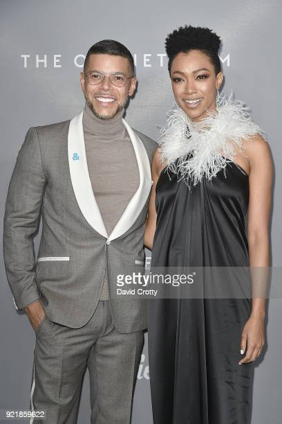 Wilson Cruz and Sonequa MartinGreen attend the 20th CDGA Arrivals on February 20 2018 in Beverly Hills California