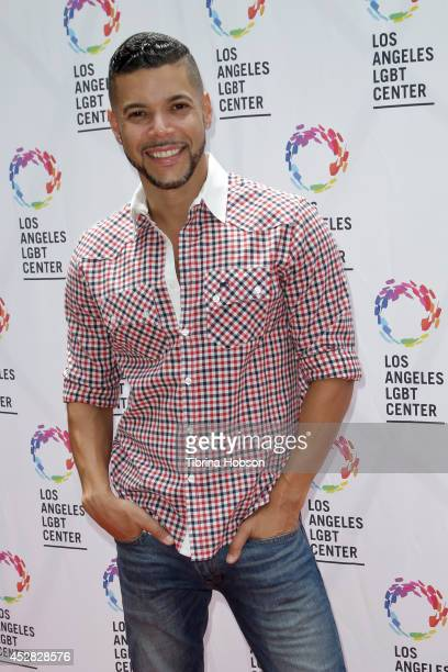 Wilson Cruz attends the GLEH/Los Angeles LGBT center's garden party on July 27 2014 in Los Angeles California