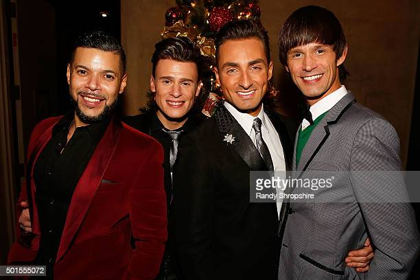 Wilson Cruz Blake McIver Scott Nevins and Emerson Collins attend Sparkle LA a benefit for The Actors Fund at Rockwell Table Stage on December 15 2015...