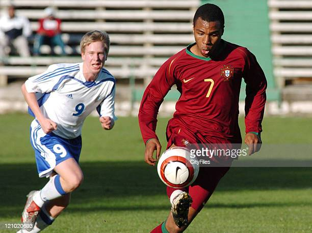 Wilson Eduardo during an under 17 International Friendly match between Portugal and Finland at Sporting in Barreiro Portugal on January 23 2007