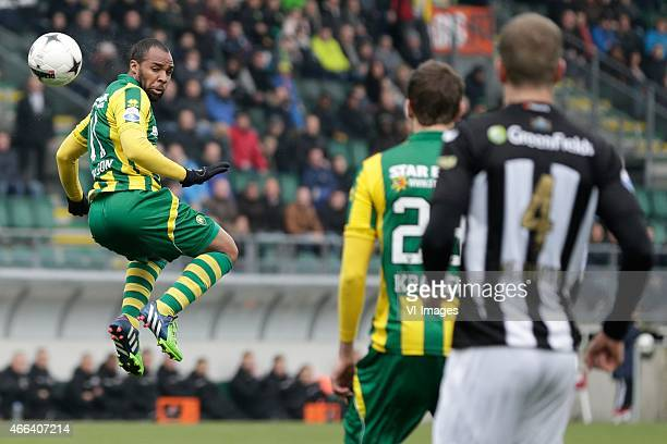 Wilson Eduardo of ADO Den Haag during the Dutch Eredivisie match between ADO Den Haag and Heracles Almelo at the Kyocera Stadium on march 15 2015 in...