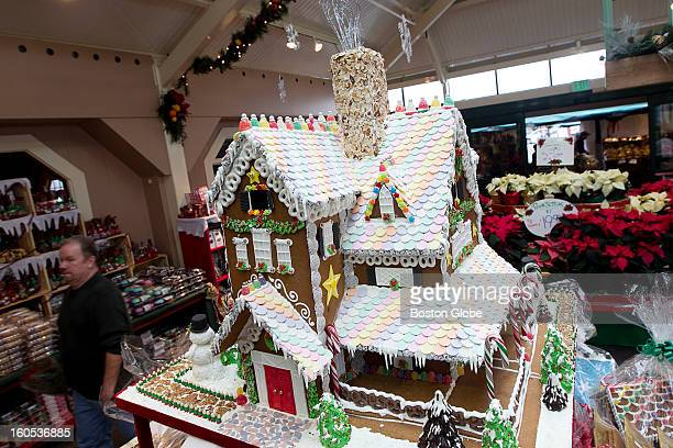 Wilson Farm in Lexington displayed a gingerbread house created by their bakery team in Lexington Mass on Tuesday Dec 18 2012 Using gingerbread baked...
