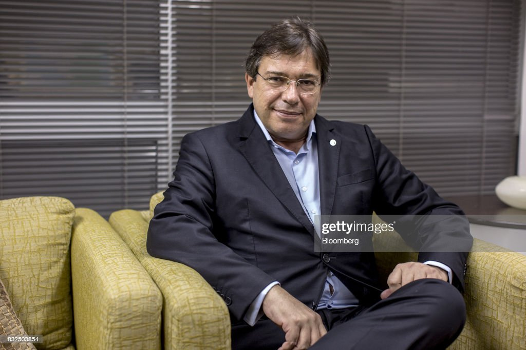 Wilson Ferreira, chief executive officer of Centrais Eletricas Brasileiras SA (Eletrobras), sits for a photograph following an interview in Rio de Janiero, Brazil, on Tuesday, Aug. 15, 2017. Centrais Eletricas Brasileiras SA generates, transmits, and markets electricity through regional companies in Brazil. Photographer: Lianne Milton/Bloomberg via Getty Images