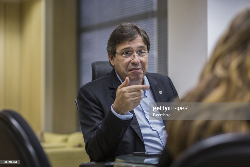 Wilson Ferreira, chief executive officer of Centrais Eletricas Brasileiras SA (Eletrobras), pauses while speaking during an interview in Rio de Janiero, Brazil, on Tuesday, Aug. 15, 2017. Centrais Eletricas Brasileiras SA generates, transmits, and markets electricity through regional companies in Brazil. Photographer: Lianne Milton/Bloomberg via Getty Images
