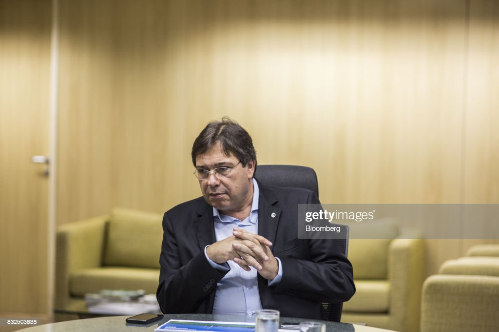 Wilson Ferreira, chief executive officer of Centrais Eletricas Brasileiras SA (Eletrobras), listens during an interview in Rio de Janiero, Brazil, on Tuesday, Aug. 15, 2017. Centrais Eletricas Brasileiras SA generates, transmits, and markets electricity through regional companies in Brazil. Photographer: Lianne Milton/Bloomberg via Getty Images