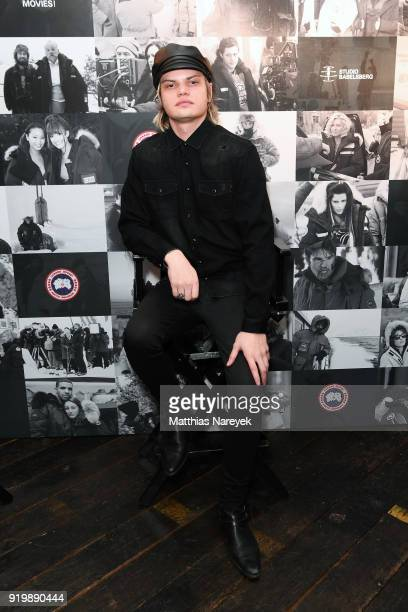 Wilson Gonzales Ochsenknecht attends the Studio Babelsberg Night X Canada Goose on the occasion of the 68th Berlinale International Film Festival at...