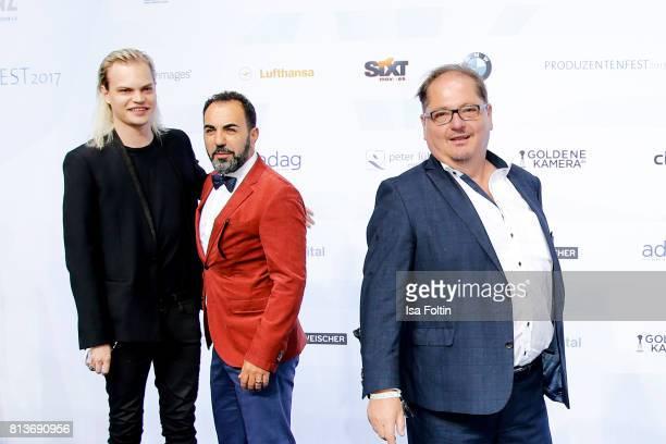 Wilson Gonzalez Ochsenkecht Adnan Maral and Juergen Tarach attend the summer party 2017 of the German Producers Alliance on July 12 2017 in Berlin...