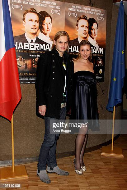 Wilson Gonzalez Ochsenknecht and Franziska Weisz attend the 'Habermann' Berlin premiere at the Czech embassy on November 24 2010 in Berlin Germany