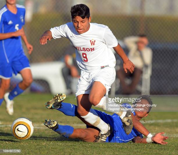 Wilson High boys soccer defeated Moore League rival Jordan 10 in Monday January 6 2014 Wilson's Martin Rafael is able to maintain possession of the...
