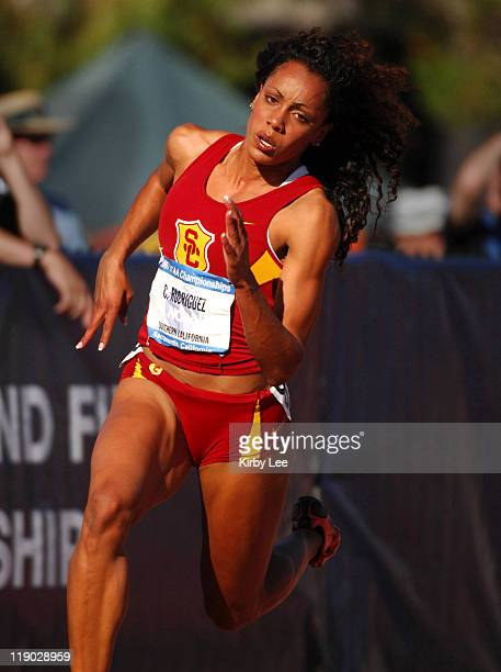Wilson High graduate Carol Rodriguez of USC competes in the women's 200meter semifinals in the NCAA Track Field Championships at Sacramento State's...