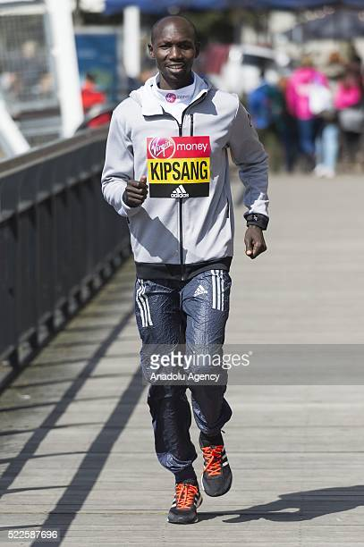 Wilson Kipsang of Kenya poses during London Marathon photocall in London United Kingdom on April 20 2016