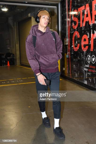 J Wilson of the Milwaukee Bucks arrives prior to a game against the LA Clippers on November 10 2018 at Staples Center in Los Angeles California NOTE...