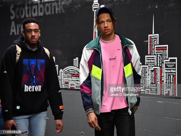 J Wilson of the Milwaukee Bucks arrives to the arena prior to Game Four of the Eastern Conference Finals of the 2019 NBA Playoffs against the Toronto...