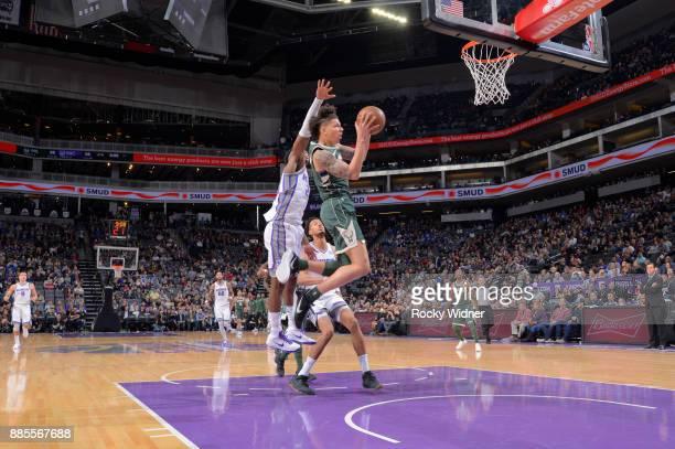 J Wilson of the Milwaukee Bucks goes up for the shot against the Sacramento Kings on November 28 2017 at Golden 1 Center in Sacramento California...