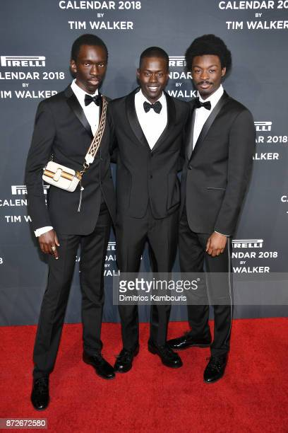Wilson Oryema Alpha Dia and King Owusu attend the 2018 Pirelli Calendar Launch Gala at The Pierre Hotel on November 10 2017 in New York City