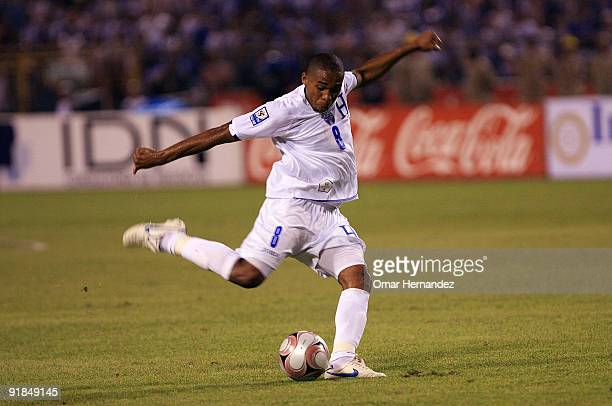 Wilson Palacios of Honduras in action during the match against USA as part of FIFA 2010 World Cup Qualifier at the Olimpic Stadium on October 10 2009...
