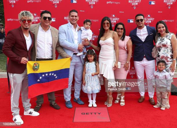 Wilson Ramos of the Tampa Bay Rays and the American League and guests attend the 89th MLB AllStar Game presented by MasterCard red carpet at...