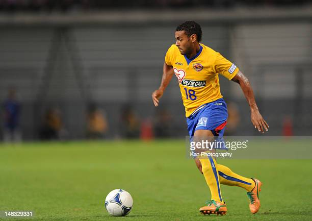 Wilson Rodrigues Fonseca dribbles the ball during the JLeague match between Nagoya Grampus and Vegalta Sendai at Toyota Stadium on July 14 2012 in...