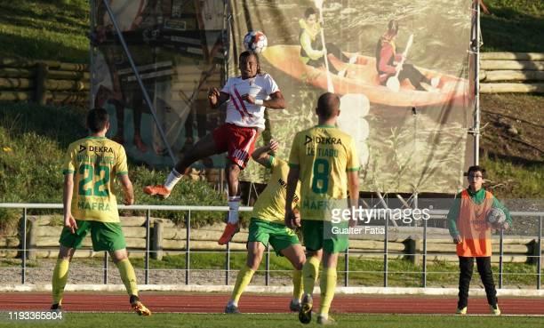 Wilson Santos of UD Vilafranquense in action during the Liga Pro match between CD Mafra and UD Vilafranquense at Estadio do Parque Desportivo...
