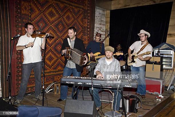 Wilson Savoy , Roddie Romero , Eric Adcock , Thomas David , Jeffery Broussard and Jon Bertrand perform at The Memphis Chapter of The Recording...