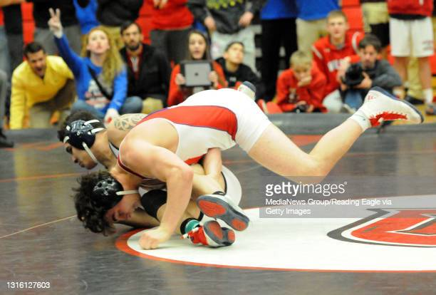 Wilson's Adam Brown defeated Wyomissing's Shawn Kilhefner 7-5 in OT. The BCIAA Individual Wrestling Tournament held at Reading High's Geigle Complex....
