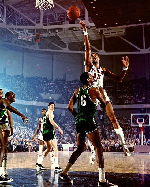 Wilt Chamberlain of the Philadephia 76ers