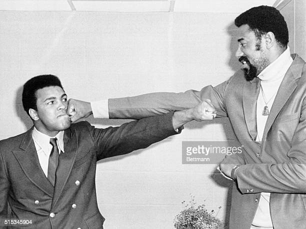 Wilt Chamberlain , the pro basketball great, threw a knockout punch into a proposed heavyweight fight between himself and former champion Mohammed...