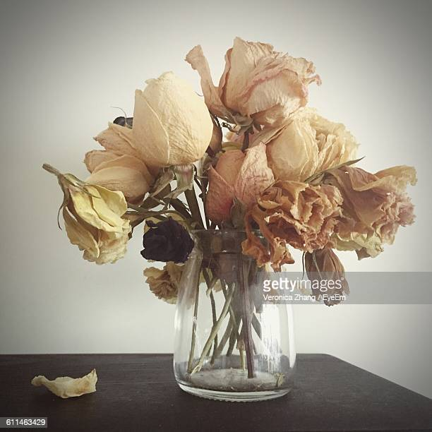 Dried Flowers In A Vase Stock Photos And Pictures Getty Images