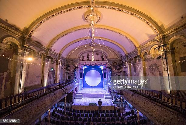 Wilton's Music Hall is pictured before a performance of the pantomime 'Mother Goose' at Wilton's Music Hall in London on December 16, 2016. A...