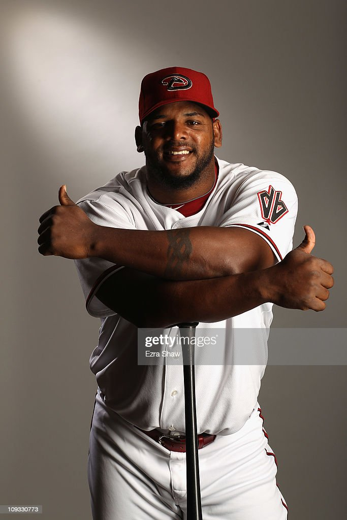Wily Mo Pena #16 of the Arizona Diamondbacks poses for a portrait at Salt River Fields at Talking Stick on February 21, 2011 in Scottsdale, Arizona.